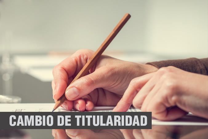 Tecmo Proyectos Técnicos Cambio de titularidad